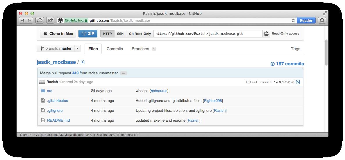 GitHub window